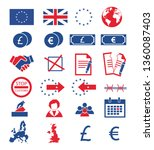 vector icons set for creating... | Shutterstock .eps vector #1360087403