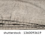 linen fabric with double seam.  ... | Shutterstock . vector #1360093619