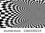 abstract wormhole tunnel. black ... | Shutterstock . vector #1360100219