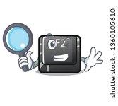 detective cartoon f2 button on...   Shutterstock .eps vector #1360105610