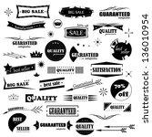 vintage design elements. labels ... | Shutterstock .eps vector #136010954