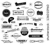 vintage design elements. labels ... | Shutterstock .eps vector #136010960