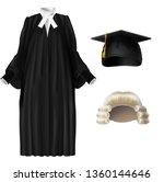 judge  university professor ... | Shutterstock .eps vector #1360144646