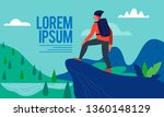 discovery  exploration  hiking  ...   Shutterstock .eps vector #1360148129