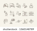 strategy line icon set.... | Shutterstock .eps vector #1360148789