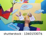 Happy Easter . Baby Card With...