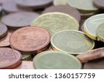 Euro Cents Coins With A Small...