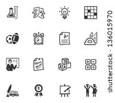 school and education icons  ... | Shutterstock .eps vector #136015970