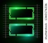 green neon banner  design.... | Shutterstock .eps vector #1360176236
