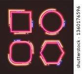 trendy neon banner design. | Shutterstock .eps vector #1360176596
