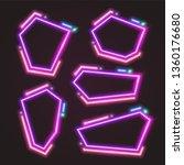 purple trendy neon banner.... | Shutterstock .eps vector #1360176680