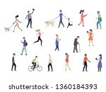 big set of people involved in... | Shutterstock .eps vector #1360184393