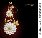 3d white and golden arabesque... | Shutterstock .eps vector #1360186493