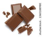 milk organic chocolate pieces...   Shutterstock . vector #1360188980
