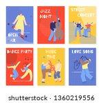 modern colorful vertical music... | Shutterstock .eps vector #1360219556