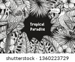 tropical collection. tropical... | Shutterstock .eps vector #1360223729