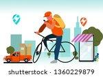 online delivery service landing ... | Shutterstock .eps vector #1360229879