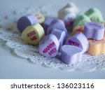 valentine's day decorations.... | Shutterstock . vector #136023116
