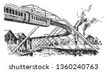 suspension railway is a form of ...   Shutterstock .eps vector #1360240763