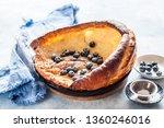 dutch baby with fresh... | Shutterstock . vector #1360246016