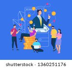 business consulting economic... | Shutterstock .eps vector #1360251176