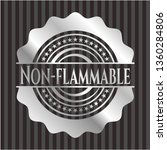 non flammable silvery emblem or ... | Shutterstock .eps vector #1360284806