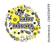 jewish holiday greeting card... | Shutterstock .eps vector #1360296959