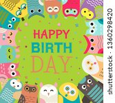 owl pattern vector illustration.... | Shutterstock .eps vector #1360298420