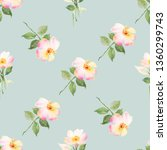 floral watercolor seamless... | Shutterstock . vector #1360299743