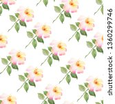 floral watercolor seamless... | Shutterstock . vector #1360299746