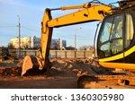 excavator worked on a...   Shutterstock . vector #1360305980
