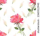 watercolour seamless pattern... | Shutterstock . vector #1360312940