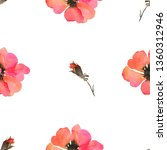 watercolour seamless pattern... | Shutterstock . vector #1360312946