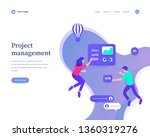 project management concept ... | Shutterstock .eps vector #1360319276