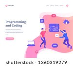 programming and coding concept  ... | Shutterstock .eps vector #1360319279