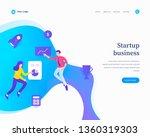 startup business concept ... | Shutterstock .eps vector #1360319303