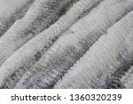 Stock photo raw marinated herring fillets closeup 1360320239