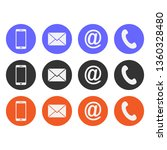 collection of contact icon | Shutterstock .eps vector #1360328480