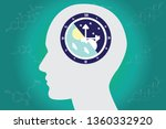 the circadian rhythms are... | Shutterstock .eps vector #1360332920