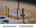 cribbage board close up macro... | Shutterstock . vector #1360336283