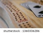 cribbage board close up macro... | Shutterstock . vector #1360336286