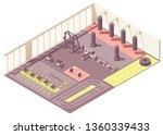 vector isometric fitness club... | Shutterstock .eps vector #1360339433