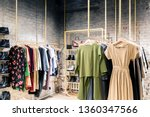 Stock photo fashion stylish luxury clothes display image and stylish services selection of colors types 1360347566