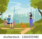 young people relaxing in city...   Shutterstock .eps vector #1360355480