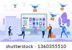 people characters shopping and... | Shutterstock .eps vector #1360355510