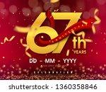 67 years anniversary logo... | Shutterstock .eps vector #1360358846