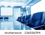 conference room tables and... | Shutterstock . vector #136036394