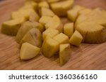 potatoes chopped chunks cutting ... | Shutterstock . vector #1360366160