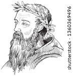 heraclitus  540 480 bc ... | Shutterstock .eps vector #1360369496