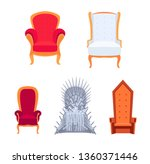 set of royal armchairs or... | Shutterstock .eps vector #1360371446